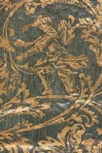 Détail d'un papier doré verni : Il Giobbe toscano / Francesco Alfonso Donnoli.- Venise : Girolamo Albrizzi, 1708 (Poitiers, Bibliothèque universitaire, Fonds ancien, FAP 374)