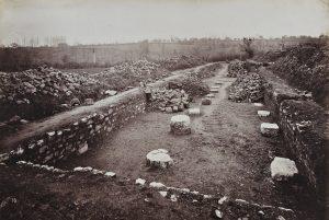 Site Gallo-romain de Sanxay - vue du sanctuaire. Anonyme 1881-1883