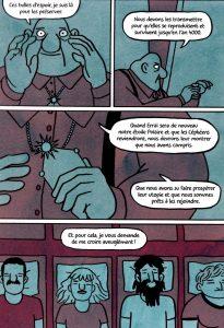 Des milliards de miroirs (page 42) / Robin Cousin. Ed. FLBLB