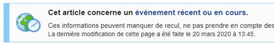 Bandeau d'avertissement - Wikipédia