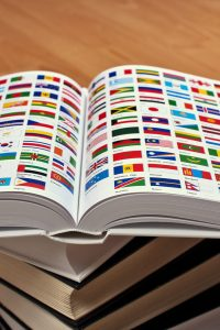 Encyclopedia pages showing world flags | Fickr Cc