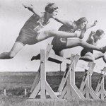 Women's hurdles race taking place at Sydney Sports Ground, New South Wales, March 1931. [Source : Flickr Commons]