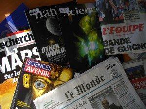 Echantillon de revues et journaux