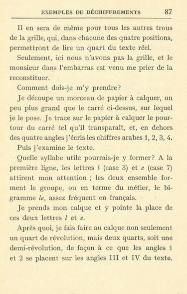 Langié -  De la crytographie p 87