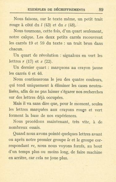 Langié -  De la crytographie p 89
