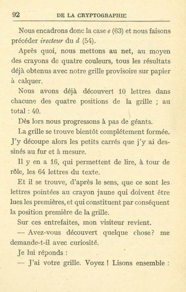 Langié -  De la crytographie p 92
