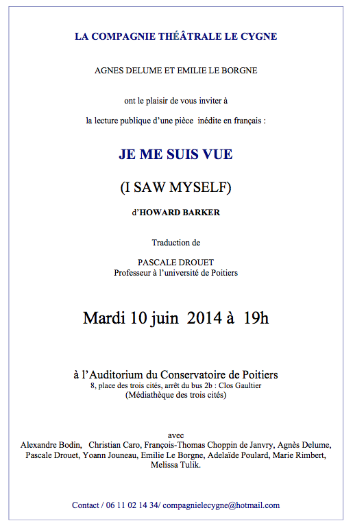 Invitation Lecture publique