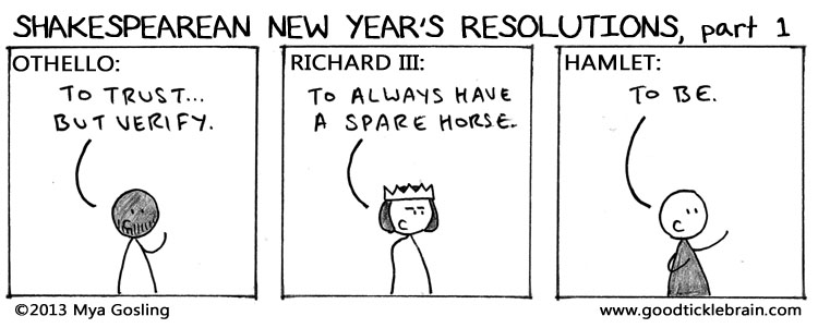 Shakespearean New Year's Resolutions part 1