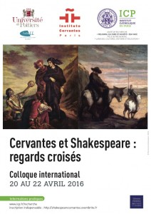 Affiche Cervantes Shakespeare
