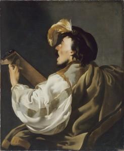 Hendrick Ter Brugghen (1588-1629), Le joueur de luth, 1624,  huile sur toile, 104,5 x 84,7cm,  Musée des Beaux-Arts, Bordeaux.