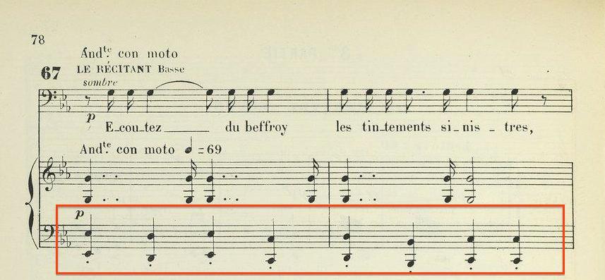 Fig.3 Thème di Dies Iræ (réduction pour piano)