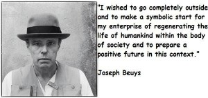 Joseph Beuys, portrait.